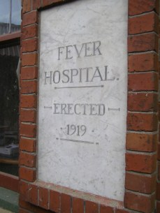 Fever Hospital (former), signage; now occupied by SPCA